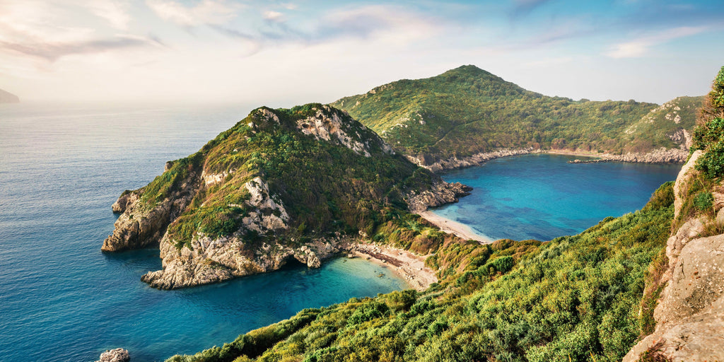 View from hilltop on Corfu