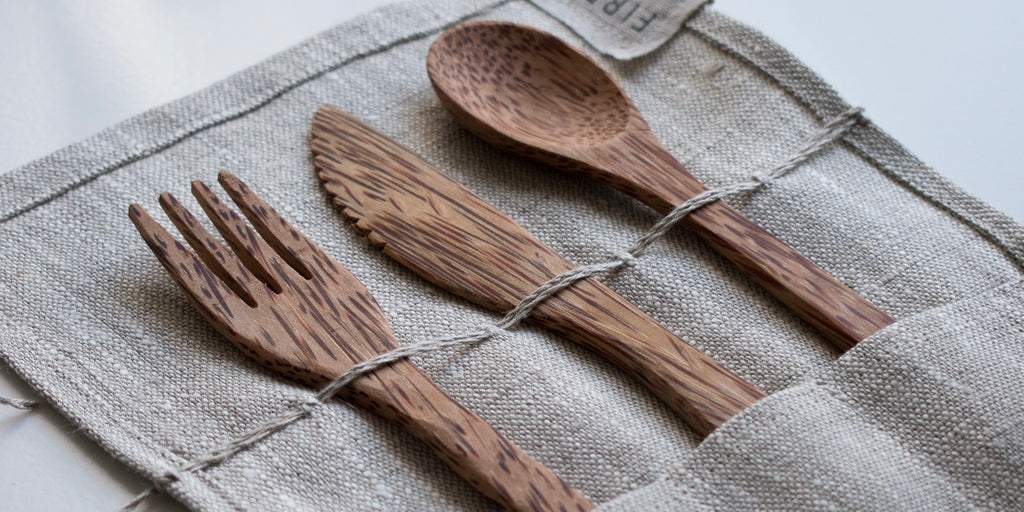 Packing plastic free cutlery is a great way to help the environment