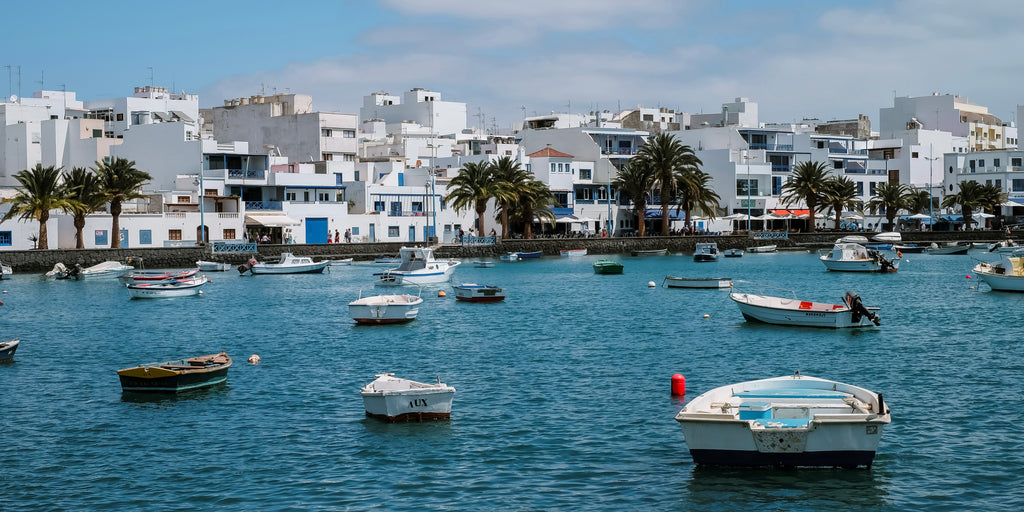 Marina in the city of Arrecife, the capital of Lanzarote