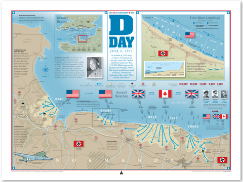 D-Day Infographic Print (24x18)