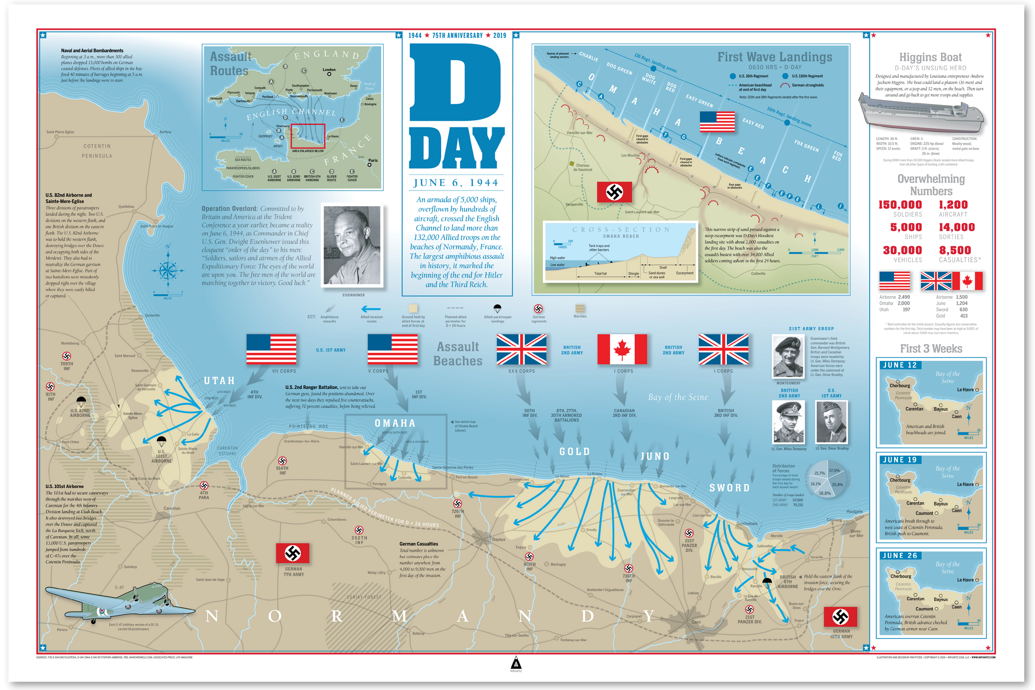 D-Day Infographic Print (36x24)