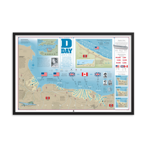 D-Day Infographic (36x24) Framed Print