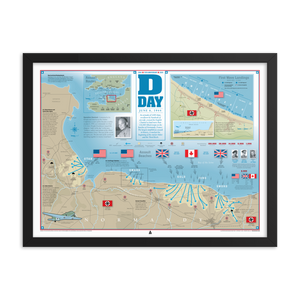 D-Day Infographic (24x18) Framed Print