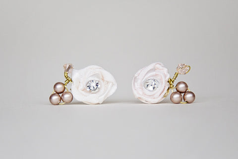 Anneka - Earrings- Gold/Blush
