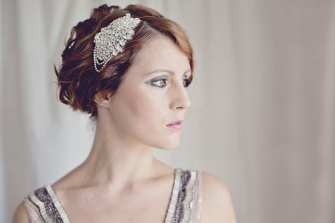 Rhinestone Statement Gatsby Bridal Headband