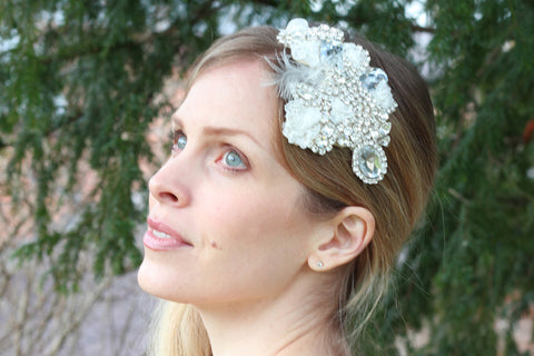 Dazzle - Headband - Silver/Cream