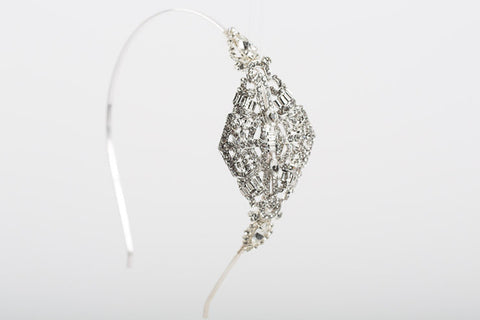Gatsby Flapper Rhinestone Wedding Headband