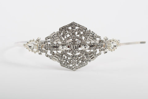 Diamante Deco Bridal Side Headband