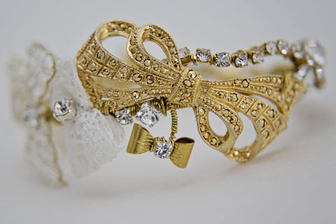 Bow - Bracelet - Gold/Cream