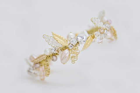 Leaf - Bracelet - Gold/Blush