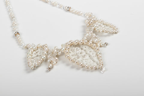 Lace - Necklace - Cream