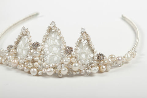 Lace - Tiara - Cream