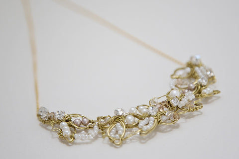 Floral Leaf Bridal Necklace