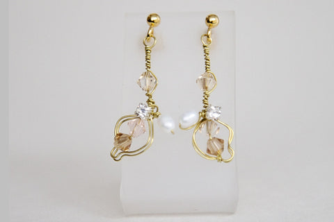 Rebecca - Earrings - Gold/Champagne