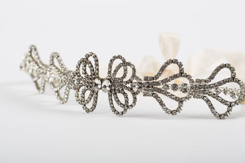 1920s Flapper Gatsby Downton Wedding Bridal Headband