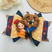 Load image into Gallery viewer, Deluxe Beauty And the Beast Clay bow