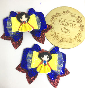 Deluxe Snow White Clay bow