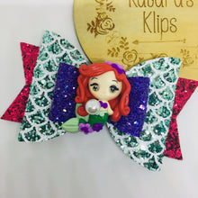 Load image into Gallery viewer, Deluxe Princess Ariel Mermaid Bow