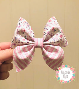 Pretty Pink Horse Sailor Bow
