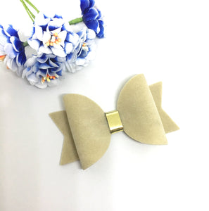 Everyday Faux Suede Beige Bow