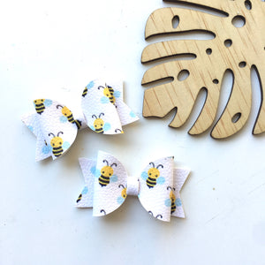 Bee Yellow Piggytail clip pair