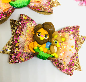 Deluxe Lion King Simba Pair bow