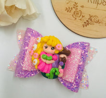 Load image into Gallery viewer, Princess Rapunzel clay bow
