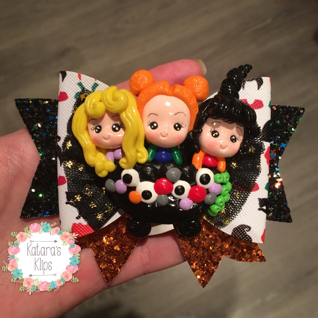 Halloween Large Hocus Pocus Witchy bow