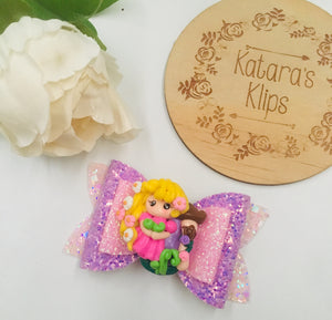 Princess Rapunzel clay bow