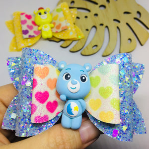 Clay Care Bears bow