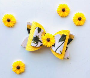 Floral Sunflower Double Bow