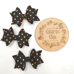 Gold/ Black Dot Bow