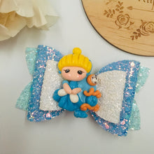 Load image into Gallery viewer, Princess Cinderella Clay bow