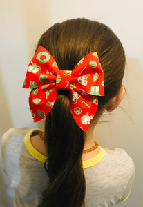 Christmas Pattern Sailor bow
