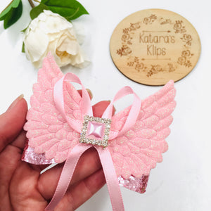 Winged Deluxe pink bow
