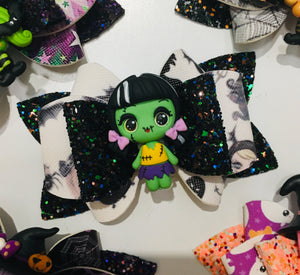 Halloween Clay Zombie bow
