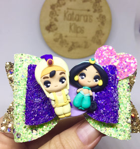 Clay Princess Jasmine Aladdin Bow