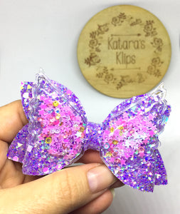 Sequin Wing Purple bow