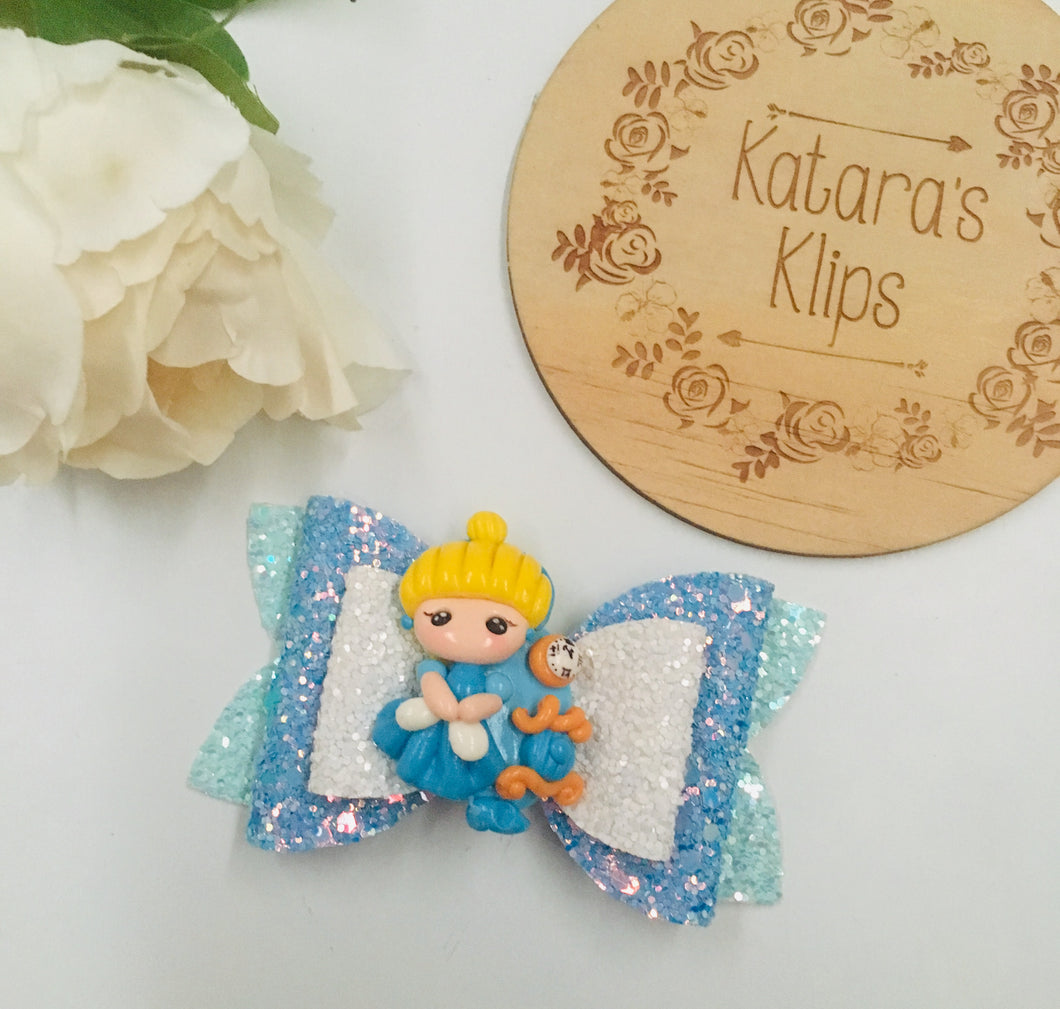 Princess Cinderella Clay bow