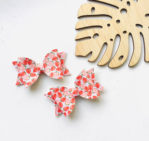Strawberry Piggytail clip pair