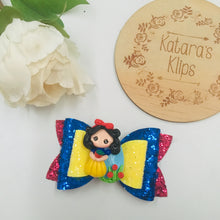 Load image into Gallery viewer, Princess Snow White Clay bow