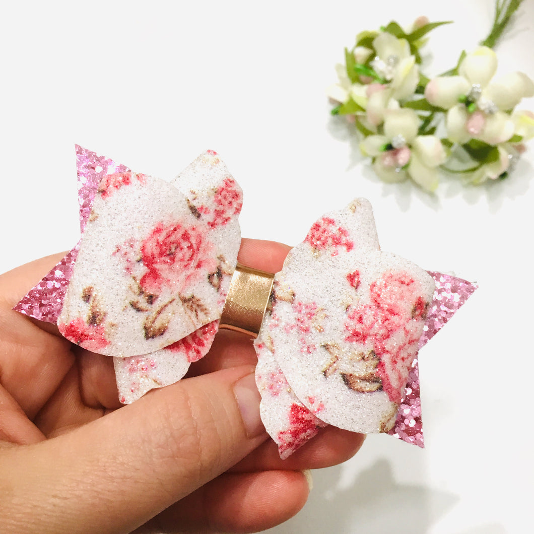 Pink Floral bow Scallop Primrose