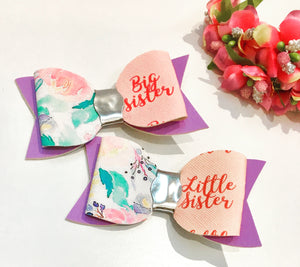 Big Little Sister Bow Pair