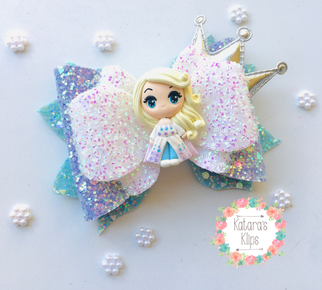 Frozen 2 Elsa Clay bow