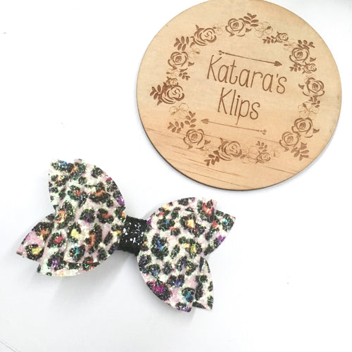 Rainbow Leopard Double Bow