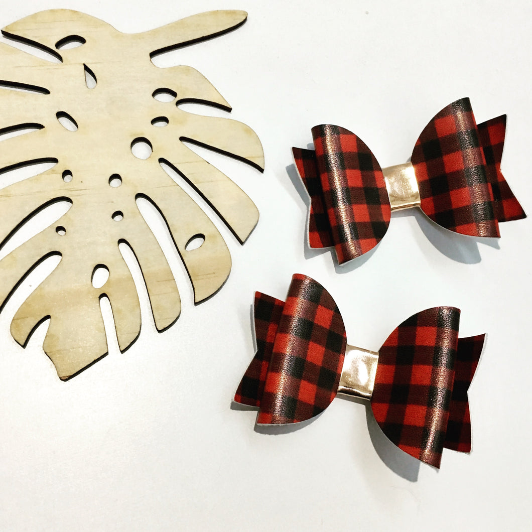 Everyday Red Tartan Bow