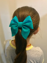 Load image into Gallery viewer, Christmas Green Velvet Sailor bow