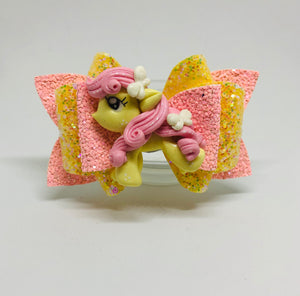 Pony Fluttershy Clay Bow