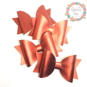 Red Simple Satin Bow
