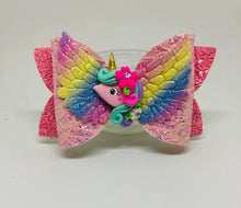 Load image into Gallery viewer, Rainbow Unicorn Bow